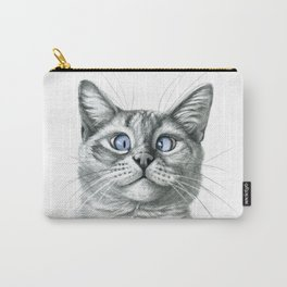 Cross Eyed cat G122 Carry-All Pouch