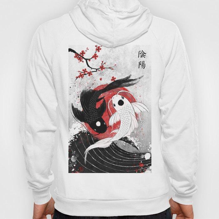 Koi fish - Yin Yang Hoodie