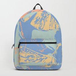 Stamped Gingko Leaves in Pastel Sorbet Backpack