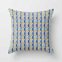 code Throw Pillows featuring Coatl Code by Pamku