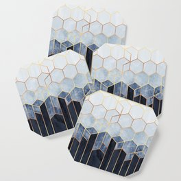 Soft Blue Hexagons Coaster