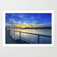 Smooth river. Art Print