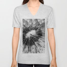 black and white dandy Unisex V-Neck
