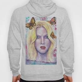 Women face Butterfly abstract print Hoody