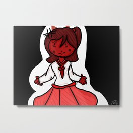 Devil Girl Metal Print