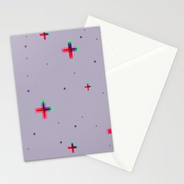 Pixel Stars Stationery Cards