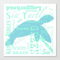 Abstract Sea Turtle Canvas Print