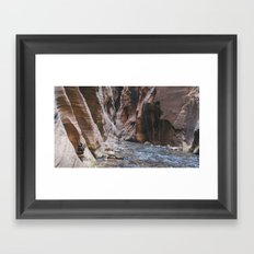 Cairn in the Zion Narrows Framed Art Print