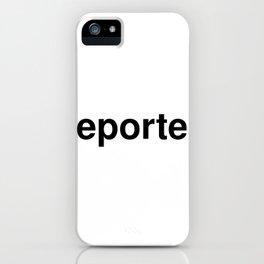 reporter iPhone Case