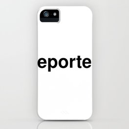 reporter iPhone Case