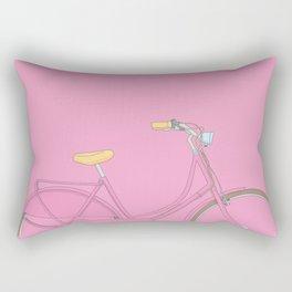 Pink bicycle Rectangular Pillow