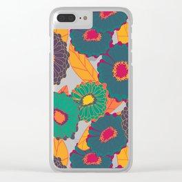 Fantasy Zinnias no.3 Clear iPhone Case
