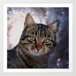 Cats in Space Art Print