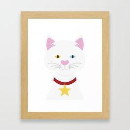 heterochromia cat Framed Art Print