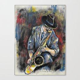 Jazz Sax 1 Canvas Print