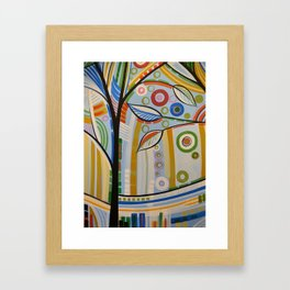 Abstract Art Landscape Tree Painting ... The Sound of Sunshine 2 Framed Art Print