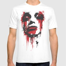 Paint Face SMALL White Mens Fitted Tee