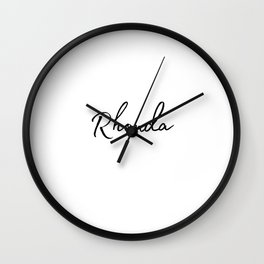 Rhonda Calligraphy Wall Clock