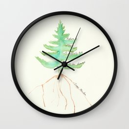 Tree with Isaac Newton Quote Wall Clock