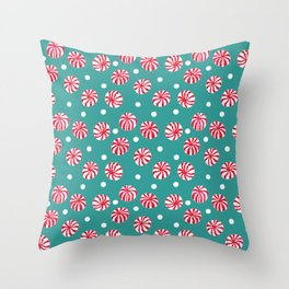 Pepperminty Throw Pillow