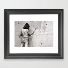 Wall flower girl Framed Art Print