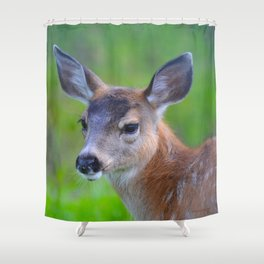 Sitka Black-Tail Fawn Shower Curtain