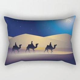 caravan at night Rectangular Pillow
