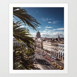 view of havana in cuba Art Print