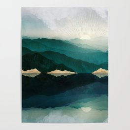 Waters Edge Reflection Poster
