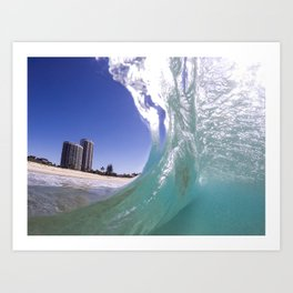 Behind The Wave! Art Print