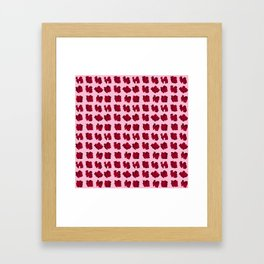 LOVE 3D Icon on pink background Framed Art Print