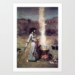THE MAGIC CIRCLE - JOHN WILLIAM WATERHOUSE Art Print
