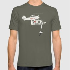 North by Northwest - Alfred Hitchcock Movie Poster Mens Fitted Tee Lieutenant MEDIUM