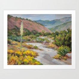 High Desert Yucca Bloom Art Print
