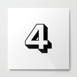 Lucky Number Four ... 4 Metal Print