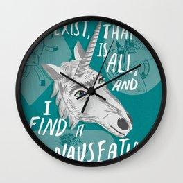 The Existentialist Unicorn Wall Clock