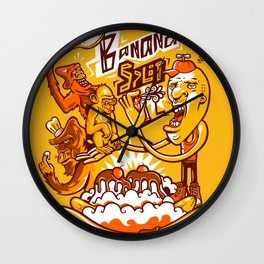 Banana Split Wall Clock