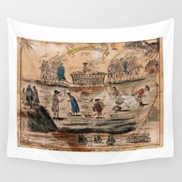 The Looking Glass for 1787 by Amos Doolittle Wall Tapestry