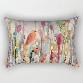 letting go Rectangular Pillow