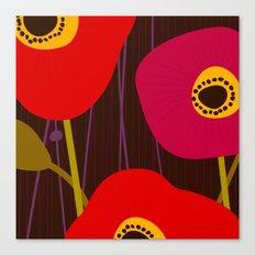 Red Poppy Flowers by Friztin Canvas Print