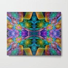 Colorful Fractal Juliascope Metal Print