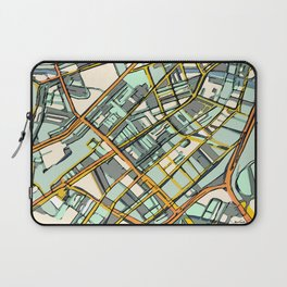 Abstract Map- Boston South End Laptop Sleeve