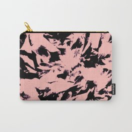 Old Rose Black Abstract Military Camouflage Carry-All Pouch