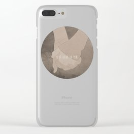 Your Hand In Mine. Clear iPhone Case