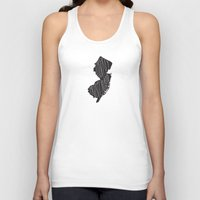 new jersey Tank Tops featuring New Jersey Motto - Black by Oh Happy Roar - Emily J. Stivers