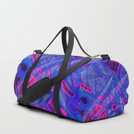 Colorful Abstract Stained Glass G298 Duffle Bag