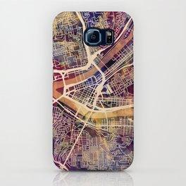 Pittsburgh Pennsylvania City Street Map iPhone Case