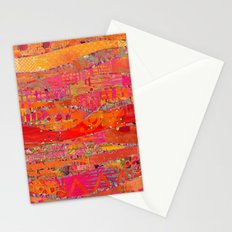 Firewalk Abstract Art Collage Stationery Cards