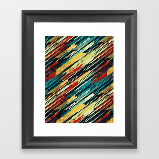80's Sweater Framed Art Print