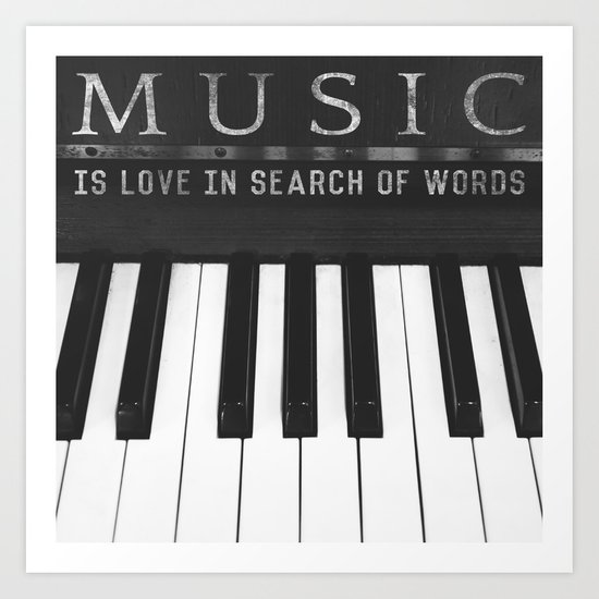 Love In Search Of Words Art Print